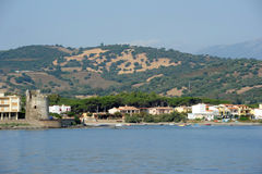 The village of Santa Lucia on the island of Sardinia Royalty Free Stock Photos