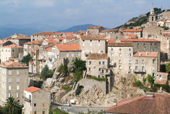 The village of Sartene on Corsica island Royalty Free Stock Images