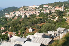 The village of Sartene on Corsica island Stock Images