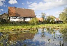 Village scénique, Pologne. image stock