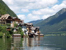 Village scene. Beautiful village-Hallsattt by the lake, which is a  UNESCO World Heritage in Austria Stock Photo