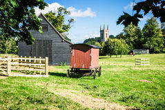 Village scene - Chawton Hampshire UK Royalty Free Stock Images
