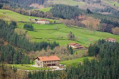 Village scene at Gipuzkoa Stock Images