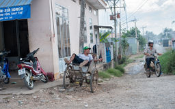 Village scene in the Mekong delta Stock Image