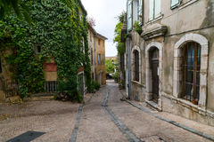 Village Scene in Provence Stock Images