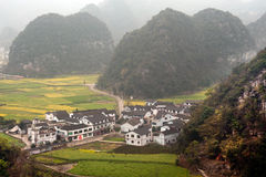 Village scenery in Wanfenglin,Guizhou in China. Royalty Free Stock Photos