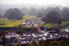 Village scenery in Wanfenglin,Guizhou in China. Stock Images