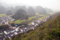 Village scenery in Wanfenglin,Guizhou in China. Royalty Free Stock Photography
