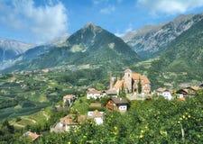Village of Schenna,South Tirol,Trentino,Merano,Italy. Village of Schenna in South Tirol,Trentino,Merano,Italy royalty free stock photos
