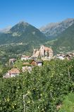 Village of Schenna,south Tyrol,Italy Stock Image