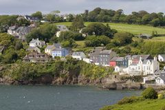 Village by the sea. A small village by the sea in rural Ireland Royalty Free Stock Image