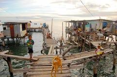Village at sea coast Royalty Free Stock Photography