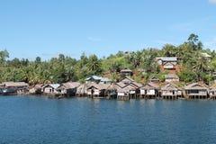 Village of sea gypsies,Togian islands. Village of sea gypsies, Togian islands, Sulawesi Stock Images