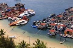Village on the sea the gypsy. Hainan. China Stock Photo
