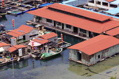 Village on the sea the gypsy. Hainan. China Stock Photography