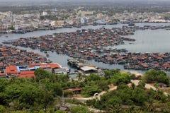 Village on the sea the gypsy. Hainan. China Royalty Free Stock Image