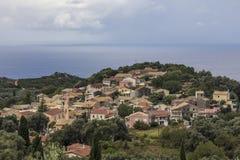 Village by the sea in Korfu Stock Image
