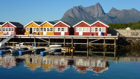 Village by the sea in Norway Royalty Free Stock Image