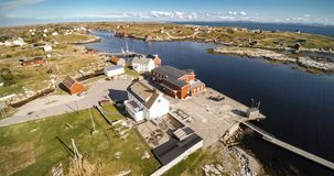 Village and Sea in small island, Norwegian Sea royalty free stock photos