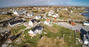 Village and Sea in small island, Norwegian Sea royalty free stock photo