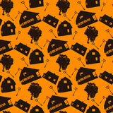 Village seamless pattern Stock Photos