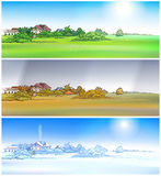 Village season Royalty Free Stock Images