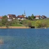 Village Seegraben in spring stock photo