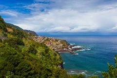 Village Seixal in Madeira Portugal stock photo