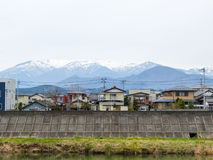 Village in Sendai town,Japan. Townscape of village in Sendai town,Japan Stock Photography