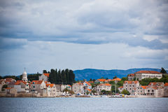Village Sepurine, Prvic island, view from the sea Royalty Free Stock Image