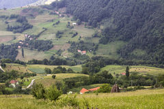 Village in serbia. Landscape shoot of village in serbia Royalty Free Stock Images