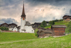 Village settlement in canton Valais  Switzerland Royalty Free Stock Photography