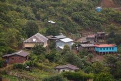 Village Settlement near Falam, Myanmar Royalty Free Stock Photos