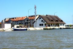 Village Sfantul Gheorghe in the Danube Delta. Royalty Free Stock Image