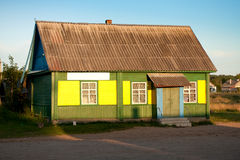 Village shop in Russia. Stock Photos