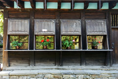 Village shop. Storefront in the mountainous Bulgarian village in autumn Royalty Free Stock Images