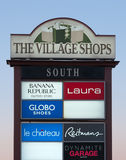 The Village Shops Sign Stock Images