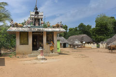 Village shrine for goddess Mariamman, Parvati. Royalty Free Stock Photos