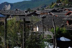 A village of Shuhe Town. Roofs of village in Shuhe Town,Lijiang,Yunnan,China,World Culture Heritage Stock Photo
