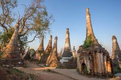Village shwe inn dain pagoda Stock Photo