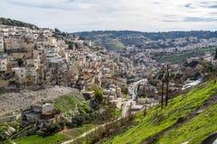 Village of Siloam in Jerusalem, Israel Stock Image