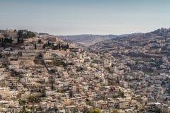 Village of Siloam in Jerusalem, Israel Royalty Free Stock Images