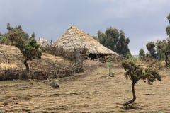 Village in simien mountain Stock Photo