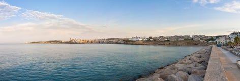 Village skyline at Sitges, Spain Stock Images