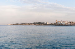 Village skyline at Sitges, Spain Stock Photography