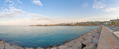 Village skyline at Sitges, Spain Royalty Free Stock Image