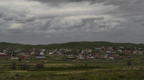 The village. A small suburb of the city of Ust Kamenogorsk Royalty Free Stock Images