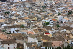 Village. Small village with white houses Royalty Free Stock Image