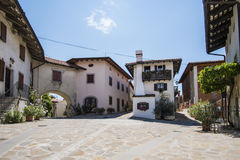 Village of Smartno, Goriska Brda,. Slovenia Royalty Free Stock Photography