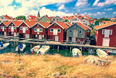 Village Smogen, Sweden Royalty Free Stock Photography